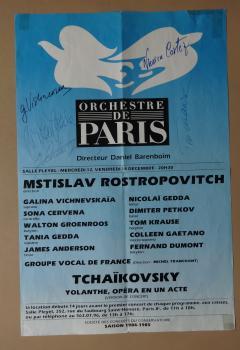 Orchestre de Paris - 5 Autogramme