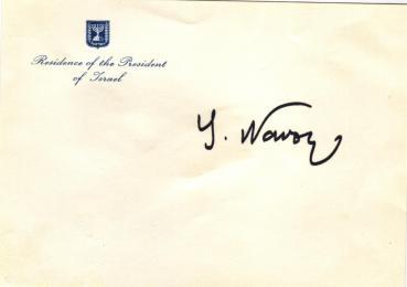 Navon, Yitzhak - ehem. Präsident von Israel