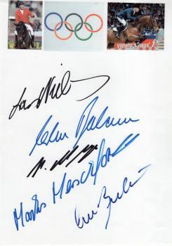 Olympiasieger im Springreiten 5 Autogramme