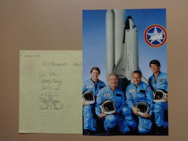 Shuttle Mission STS-5 - komplette Crew