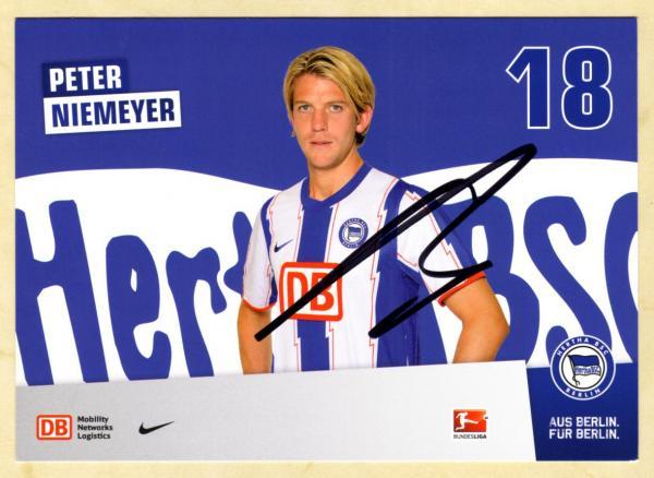 A 147605 Peter Niemeyer Autogrammkarte Hertha BSC Berlin 2012-13 Original
